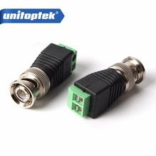 100Pcs/lot Coax CAT5 To Camera CCTV BNC Connector Male Terminal Video Balun Connector