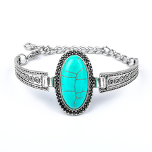 Buy H:HYDE 16 Types 2017 New Arrival Vintage Natural Stone Bracelet Tibetan Silver Classic Chain Green Bracelets Women Girls for $1.12 in AliExpress store