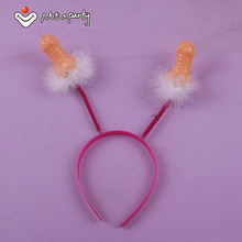 4pcs Willy headband wedding event adult birthday fun game Penis hair accessories Bride gift hen Bachelorette party Sex products