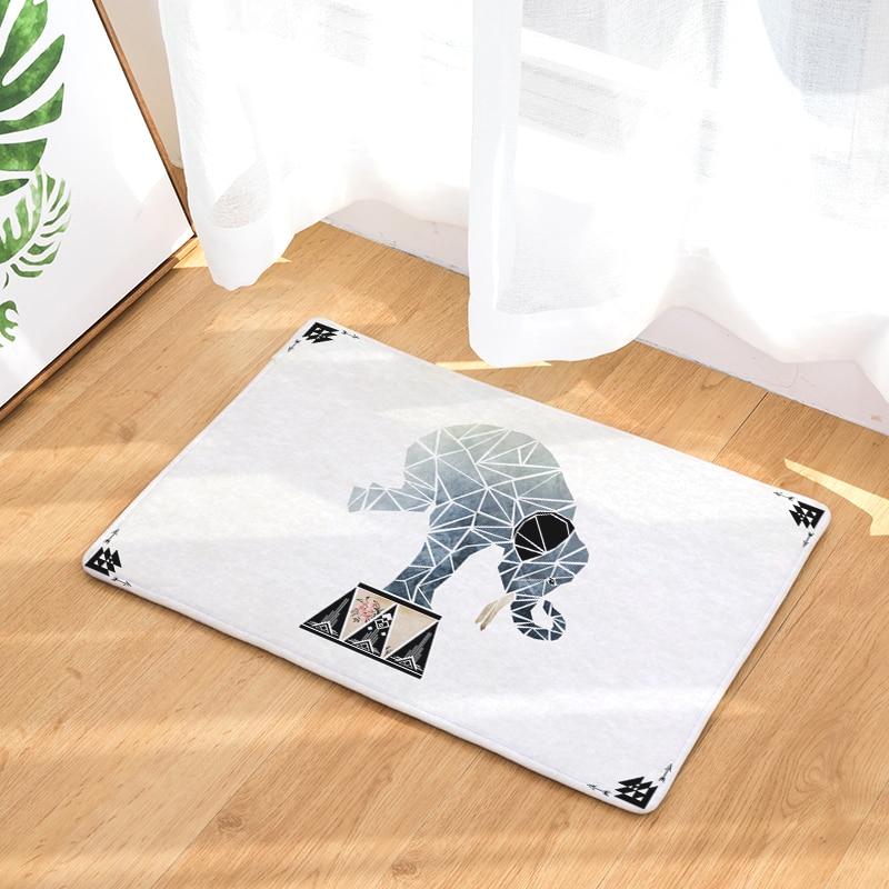 Flannel Floor Mats Magical Animals Printed Bedroom ... Living Room ... Bedroom a5e22b