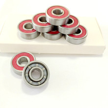 8pc 608 reds Bearing Skate board Inline Skates Shoes Deep Groove Ball Bearing 3d Printer Accessories Cruiser Longboard Bearing(China)