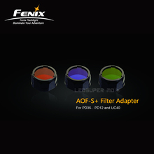 External Accessories of Fenix Flashlights AOF Filter Lens Adapter with Red/ Blue/ Green(China)