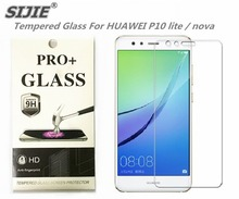 SIJIE Tempered Glass For HUAWEI P10 lite nova 0.26mm Screen Protector front stronger 9H thin discount with Retail Package