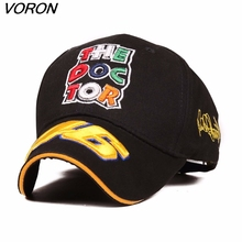 2016 New Design Racing Cap hat Car Motocycle Racing VR 46 Rossi Embroidery Sport Hiphop 100%Cotton Baseball Cap