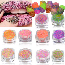 1.5g Dazzling Finest Mixed Sugar Nail Glitter Dust Powder for Nail Tips Decor Beauty Craft UV Gel Manicure Accessory LA513-522