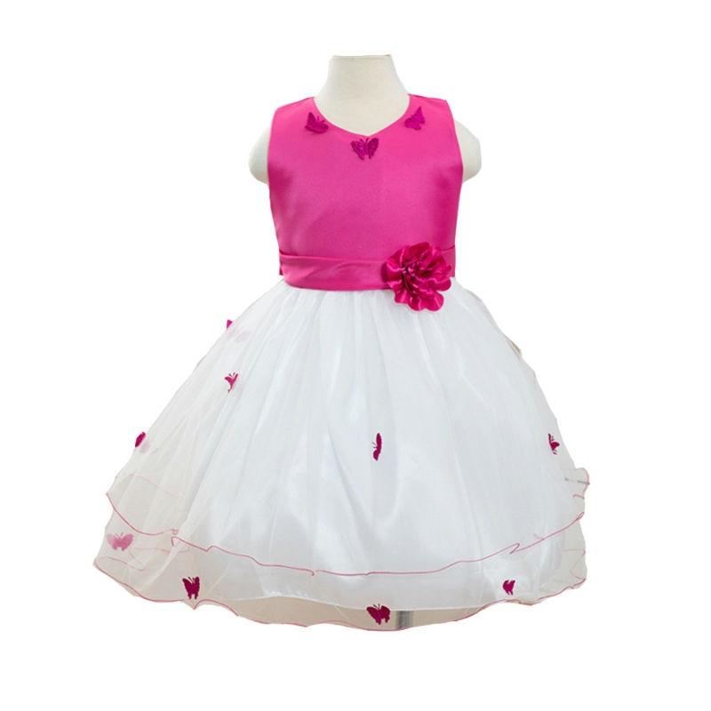 Hot Sale Sleeveless Girl Dress Summer Butterfly Princess Dresses Kids Wedding Party Dress Girl Clothes Free Shipping<br><br>Aliexpress