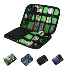 Universal Travel Bag Mobile Phone Digital Device Storage Bags Pouch for Iphone 6s 7 Plus USB Cable Headphone Charger Power Bank