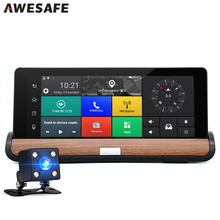 "7"" 3G Car Camera DVR Rear view Android 5.0 GPS Bluetooth Dual Lens Video Recorder FHD 1080P Automobile DVR Dash cam Car Console"