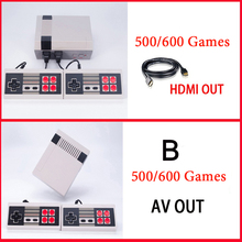 6 Styles Mini Console Support HDMI&AV TV Handheld Game Player Video Game Console To TV With 620/600/500 Built-in Games(China)