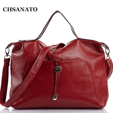Hot Sale Fashion Lichee Pattern Women's Genuine Cow Leather Big Handbag Shoulder Bags Lady Sling Bag(China)