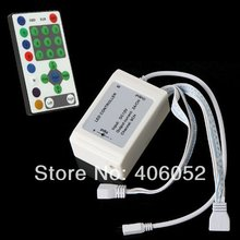 Wholesale 100set/lot DC 5V 12V IR 25 Key led rgb remote controller for rgb full color running strip(China)