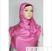 Free shipping 2012 Summer Style Long Scarf Muslim Hijab popular Little Shinny Scarf Shawl fast delivery assorted colors(China)