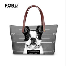 Lovely French Bulldog Women Handbag Casual Shoulder Bags Luxury Designer Lady Messenger Top handle Bags Tote Bolsas Travel Bag(China)