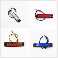 CYAN SOIL BAY DC12V/24v 6LED Side Marker Light for Truck Trailer Indicator Signal Lamp Color White RED Amber Blue Green Yellow