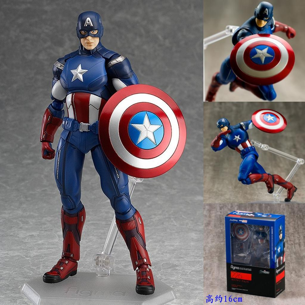 2017 New The Avengers 2 Figma Action Figures Toys cute 16cm Super Hero Captain America PVC Model Collection Dolls chirstmas Gift<br><br>Aliexpress