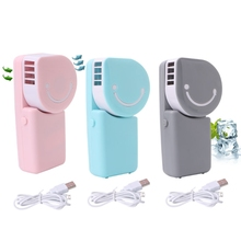 Portable USB Rechargeable Hand Held Air Conditioner Cooling Summer Cooler Fan(China)
