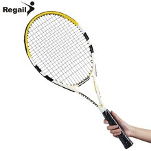 2 Colors REGAILTennis Racket Raquete De Tennis Carbon Aluminum Alloy Frame Regular Grade Unisex Tennis Racket Cellosilk Thread