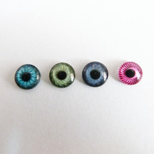 40pcs/lot 8mm/9mm flat round plastic toy animal eyes for diy doll accessories--color option