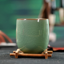 Cup tea set Pu'er Green Tea cups Coffee Handmade Cracking Retro Celadon Drinkware 6 colors(China)