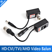 Video Balun Transceiver BNC UTP RJ45 Video Balun and Power Over CAT5/5E/6 Cable for CVI/TVI/AHD 720P Camera UP TO 300m