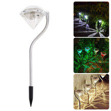 4pcs/lot Stainless Steel Solar Waterproof Outdoor Solar Power LED phototherapy lights courtyard lawn lamps plug lights