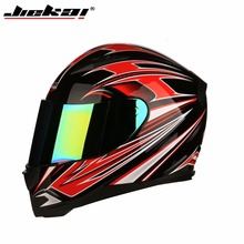 Buy Jiekai Full face Motorcycle Helmet winter Warm scarf Moto Scooter Electric motorbike Helmet colorful visor Motocross Helmets for $40.65 in AliExpress store