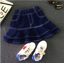 Toddler Kids Girls Denim Skirt Children's Fashion Ruffles A-line Clothing Baby Girl Autumn Tutu Skirt Kids Cowboy Clothing 2-7Y