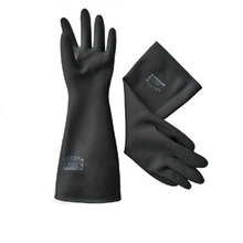 New Safety Glove Elbow-Long Industry Anti Acid Alkali Chemical Resistant Rubber Work Protective Gloves(China)
