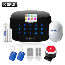 KERUI Android IOS APP 433MHz TFT color Screen UI menu GSM Alarm System SIM Card Phone call sms Alarm Security door open remind