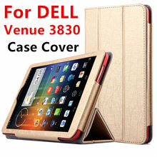 Case For DELL Venue 8 3830 Android Protective Smart cover Leather Tablet For dell venue 8 V8-BK16R  8 inch PU Protector Sleeve
