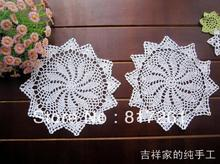 Free shipping 6 pic/lot 25 cm  2014 new ZAKKA crochet lace doilies coaster vast pad photo props flowers decoration for dinning