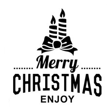 Christmas Wall Sticker Candle Decorations Room Home Decor Store Window Decal Merry Christmas Enjoy enfeites para casa decoracao(China)