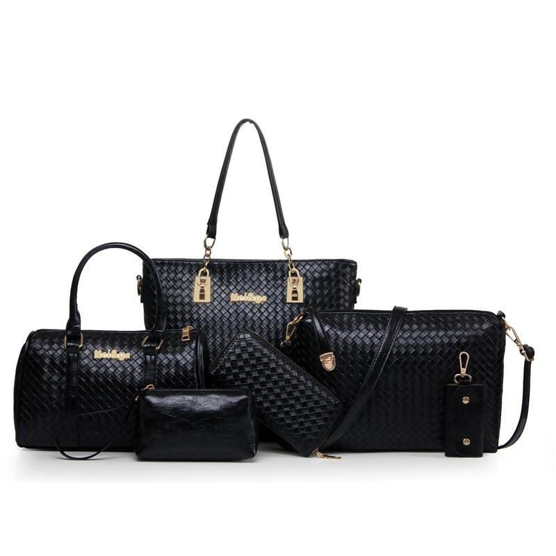 HerMerce Bags Handbags Women Famous Brands Leather Bags For Women 2017 Shoulder Bag Female Bags Set 6 sac a main femme 7490<br>