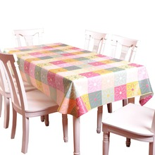 Multicolor Grid Printed Plastic Table Cloth Oilproof Eco-Friendly Tablecloth Big Size Table Cover Party Wedding Tablecloths