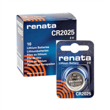 Free Shipping! Original RENATA 10pcs/lot CR2025 2025 3V High-Performance Button Batteries(China)
