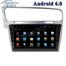1024*600 10.2inch Quad Core Android 6.0 Car Radio player for VW Golf 7 With Bluetooth 16GB Nand Flash 3G Wifi Mirror Link Maps