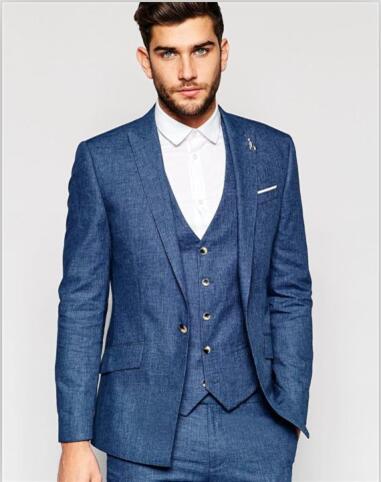 Online Buy Wholesale blue linen suit from China blue linen suit ...