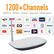 Europe Arabic French IPTV Channels Android TV Box Q1304 Support Sport Canal French Sky Iptv Set Top Box Free Test Account TV Box
