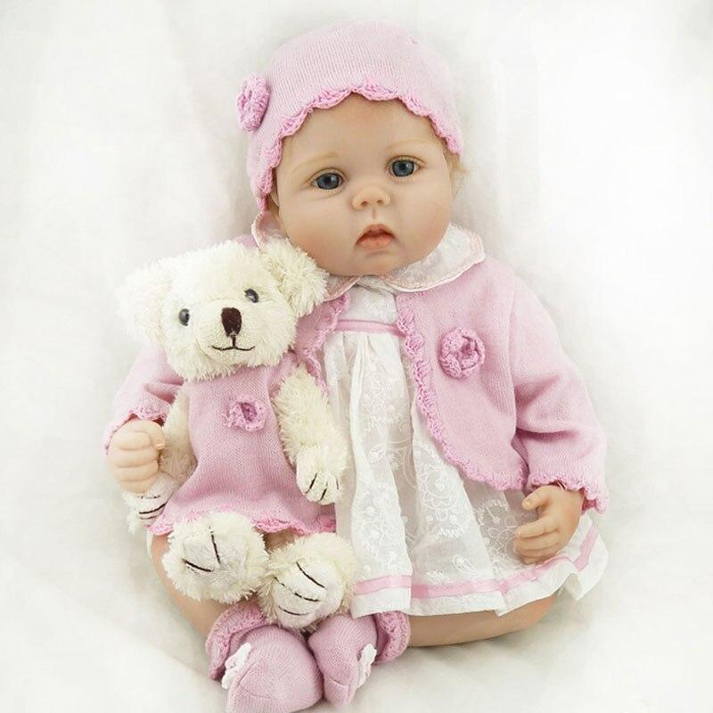 Realistic Bebe Reborn 55cm Reborn Doll 22Inch Silicone Reborn Baby Dolls Girl Doll Lifelike Newborn Babies Bonecas Brinquedos<br><br>Aliexpress