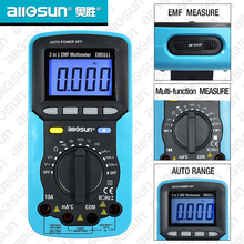 All-Sun EM5511 EMF Digital Multimeter 3 In 1 EMF Multimeter Backlight LCD Display Tester Multi-Function Multimeters EMF Tester(China)