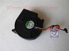 Original SUNON 9733 9CM 12V 4.2W PSB1297PYB1-AY blower fan Can be used for the graphics card power supply chassis