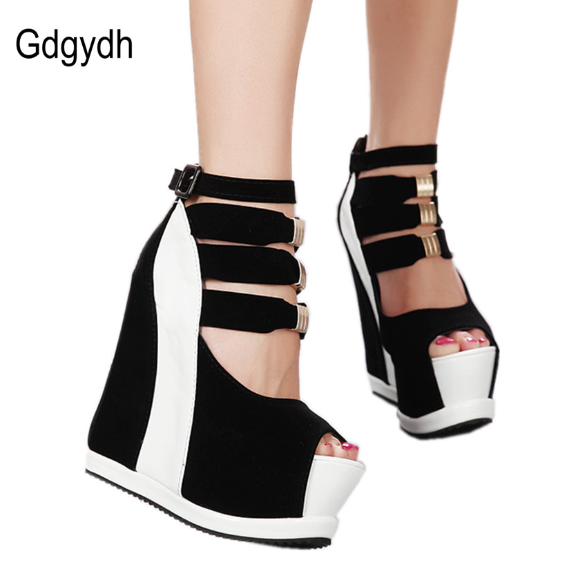 Gdgydh Hot Sale New Summer Pumps Sexy Ultra High Heels Female Sandals Platform Wedges Open Toe Womens Shoes Princess Shoes 41<br><br>Aliexpress