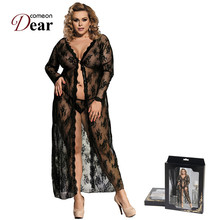 Buy Comeondear Sexy Lingerie Robe Women Lingerie Sexy Hot Erotic Big Size Nightwear Sex Costumes Kimono Bathrobe Dress Gown RK80232
