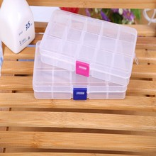 1pc DIY Adjustable Storage Box 10/15 Grids 2 size Button Pill Jewelry Case Organizer High Quality Home Storage Box Suppy