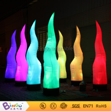 New Arrival Inflatable flame shape lighting tube with different color led lights light toys