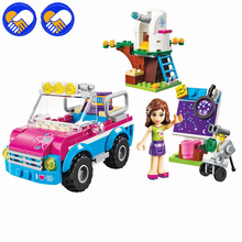 A TOY A DREAM 10555 Girl Friends Olivias Expeditions Auto Car Toys DIY Building Brick Toys Girls Gift Compatible LepinBELA 41116