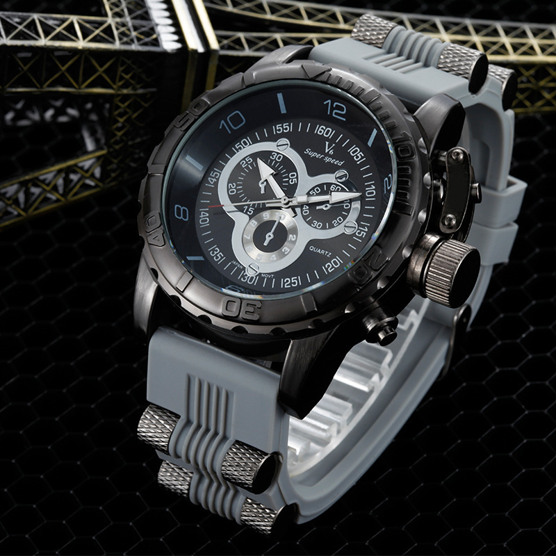Top Brand Men Sports Watches Luxury Big Dial Watch Male Fashion Quartz Clock Military Wristwatch Relogio Masculino<br><br>Aliexpress