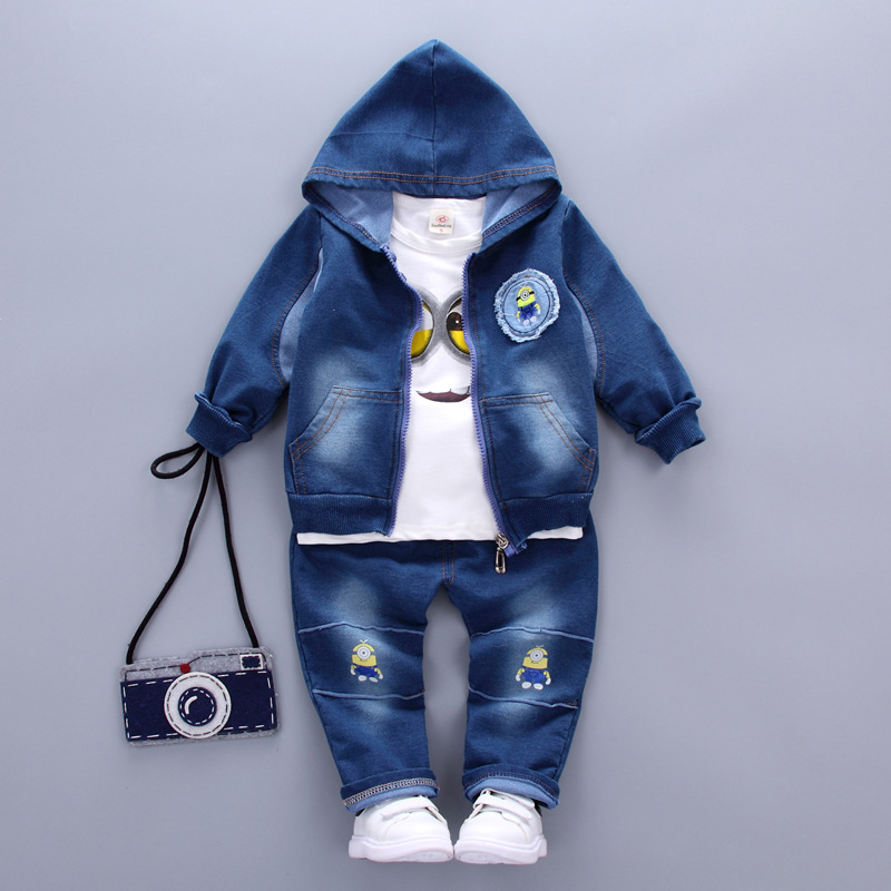 kids clothes Baby boys Set girls outfits 2017 New kid tracksuit children 3pcs Denim suit jacket+jeans+T-shirt toddler clothing<br><br>Aliexpress