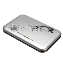 "Portable For Data Backup And Exchange 2.5"" USB 2.0 SATA HDD External Enclosure Case Box 2.5 Inch SSD HDD Hard Drive Disk(China)"
