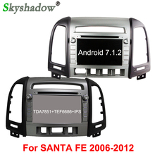 Android 7.1 quad Core 2G RAM Car DVD video GPS Glonass Navi RDS Radio wifi 4G Bluetooth steeringFor Hyundai SANTA FE 2006-2012(China)